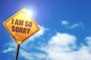 72775153 - i am so sorry, 3d rendering, traffic sign